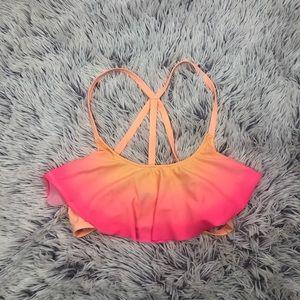 PINK Victoria's Secret Ombré Flounce Bikini Top